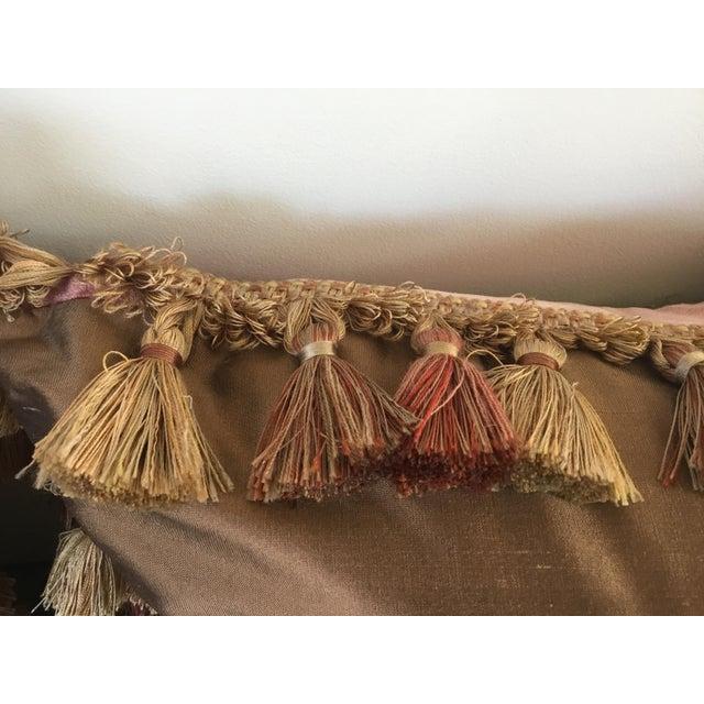 Silk Embroidery Appliqué Silk Velvet Pillows - a Pair For Sale - Image 7 of 9