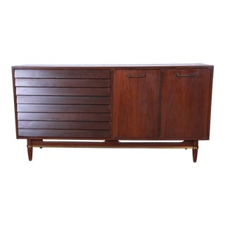 Merton Gershun for American of Martinsville Louvered Front Sideboard Credenza or Dresser For Sale