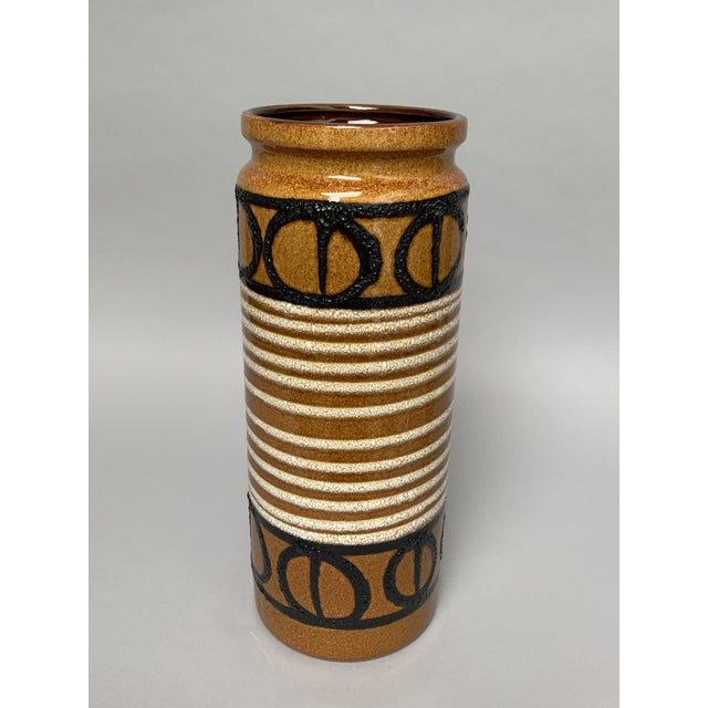 Boho Chic 1960s Boho Chic Ceramic Umbrella Stand or Floor Vase For Sale - Image 3 of 13