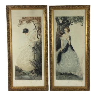 French Art Deco Gravures by J. Hardy - a Pair For Sale
