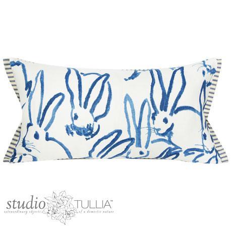 Blue Blue Bunny Lumbar Pillow For Sale - Image 8 of 8