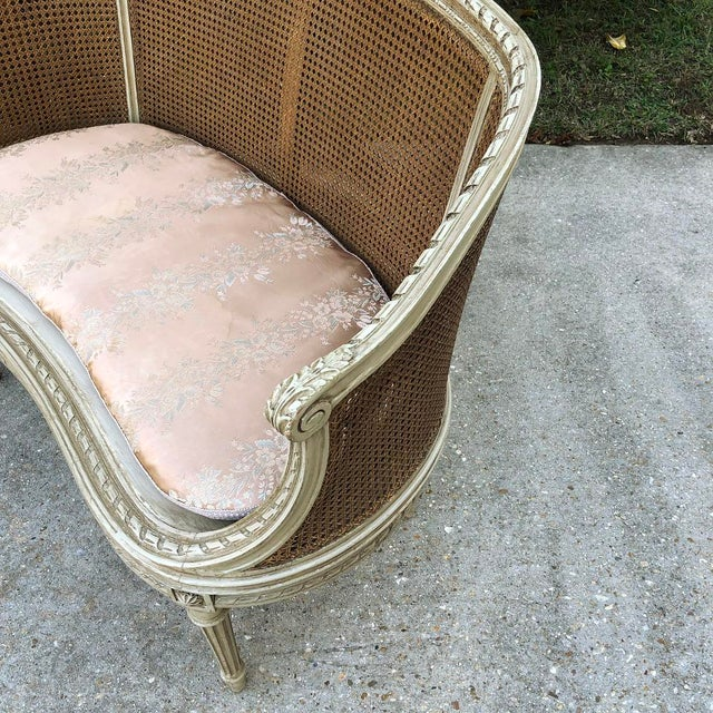 19th Century French Louis XVI Painted Canape For Sale - Image 10 of 12