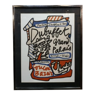 Coucou Bazar 1973 Pencil Signed and Numbered Lithograph Print by Jean Dubuffet