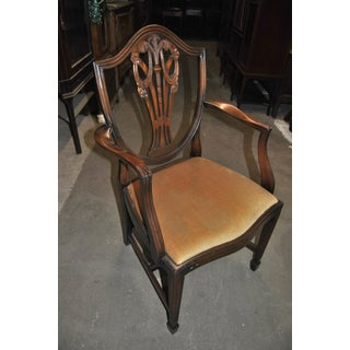 20th Century English Mahogany Hepplewhite Style Chairs - Set of 12 Preview