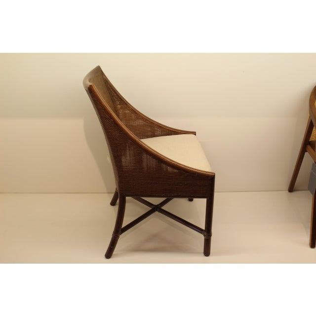 McGuire Barbara Barry Petite Caned Arm Chair - Image 4 of 5