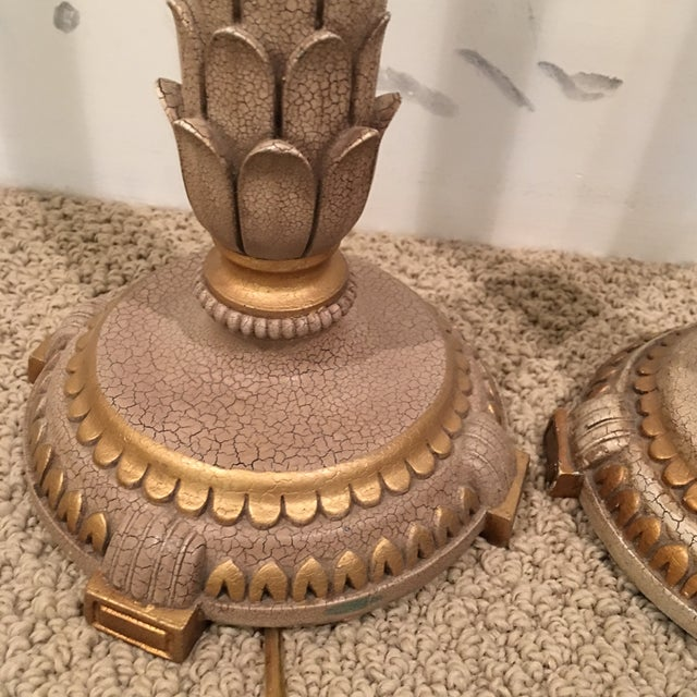 Gilt Candlestick Lamps - A Pair - Image 6 of 8