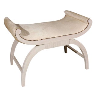 Customizable Paul Marra Neoclassical Bench in Oak For Sale