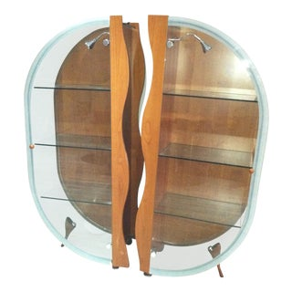 Modern Glass Display Cabinets - a Pair