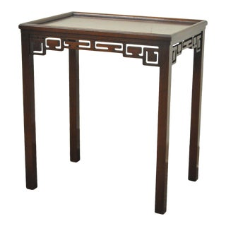 """28"""" H Kittinger Buffalo Chinese Chippendale Vtg Mahogany Side Lamp Table A574 For Sale"""