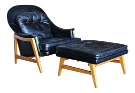 Image of Edward Wormley Chair and Ottoman Sets