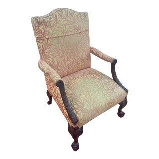 English Chippendale Style Accent Chair For Sale