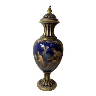 Antique Royal Vienna Mounted Bronze Porcelain Urn For Sale