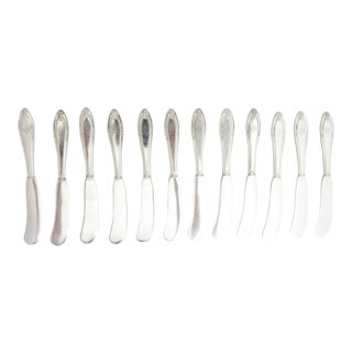 1919 Gorham Silver Butter Knive Set of Spreaders W/ Mono VRH - Set of 12 For Sale
