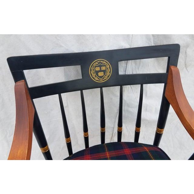 Harvard University Veritas Nichols & Stone Captain's Chair For Sale In Phoenix - Image 6 of 12