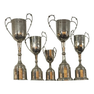 Chrome Plate Sports Trophies - Set of 5