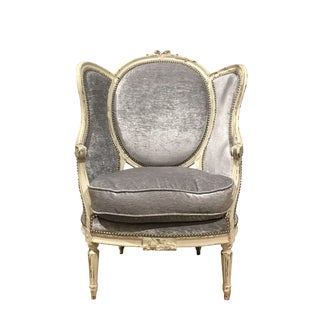 French Painted Wing Chair For Sale
