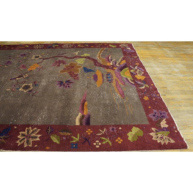 """Textile Antique Chinese Art Deco Rug 8'10""""x11'6"""" For Sale - Image 7 of 13"""