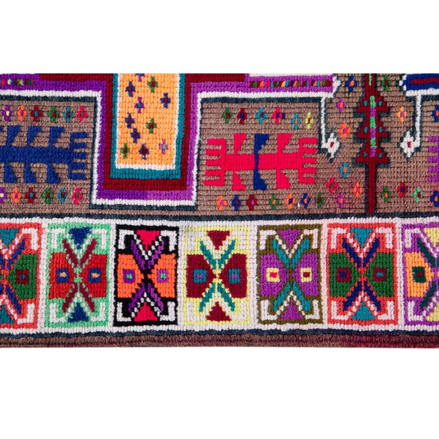Mid-20th Century Colorful Vintage Turkish Wool Runner Rug 3 X 13 For Sale - Image 9 of 12