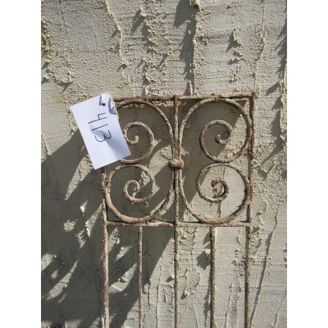 Traditional Antique Victorian Iron Gate Architectural Element For Sale - Image 3 of 6