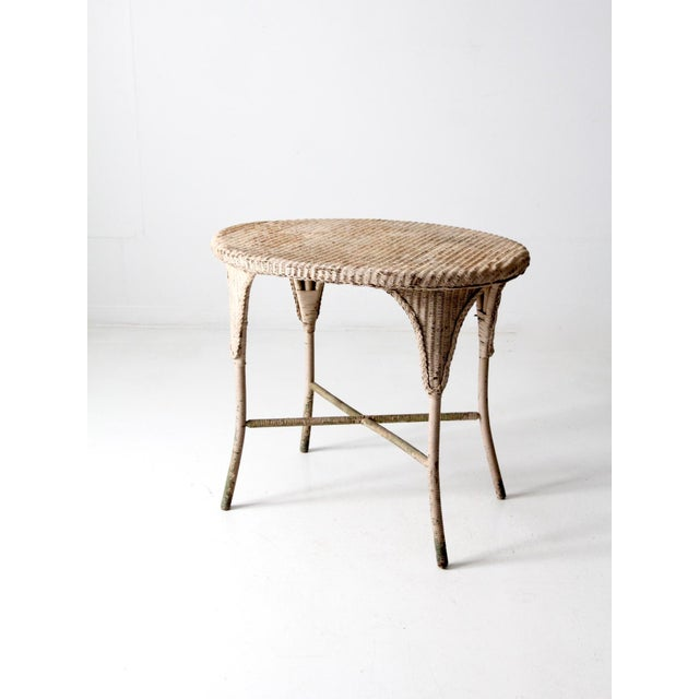 Antique Wicker Side Table For Sale - Image 4 of 13
