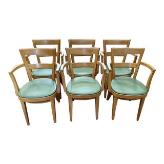 Set of 6 Thonet Armchairs/Dining Chairs 1950s For Sale