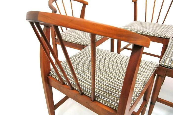 Danish Modern Mid Century Danish Style Low Back Chairs   Set Of 4 For Sale