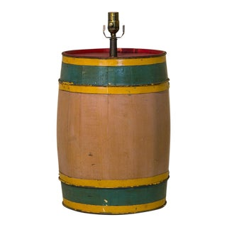 Carnival Barrel Table Lamp For Sale