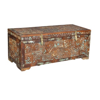 Reclaimed Carved Teak Trunk