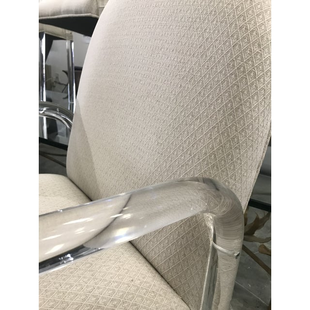 1970s Vintage Lucite Dining Chairs- Set of 6 For Sale - Image 4 of 10