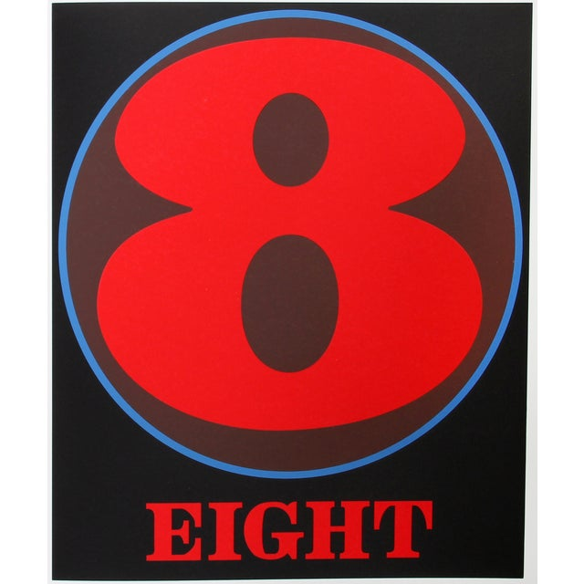 Eight, Serigraph by Robert Indiana - Image 2 of 2
