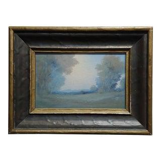 Edward Diers 1921 Rookwood Vellum Plaque Landscape with Original Frame For Sale
