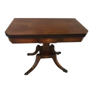 English Calamander Card Table