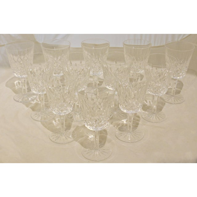 1950s 1950s Waterford Lismore Water Goblets - Set of 12 For Sale - Image 5 of 5