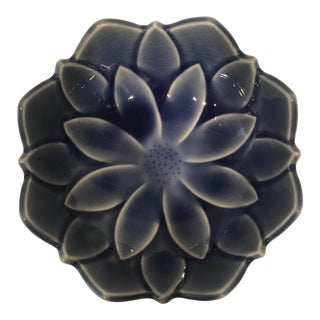 Japanese Pottery Lotus Bowl For Sale