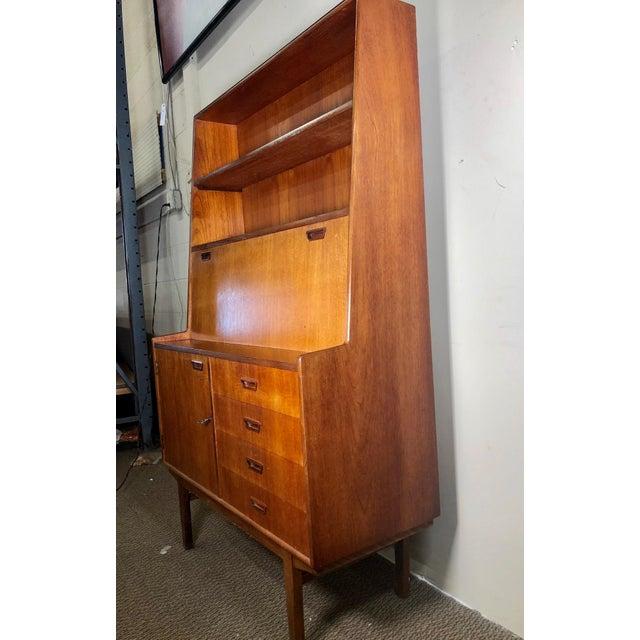 Mid Century Teak Secretary Desk by Turnidge of London For Sale - Image 12 of 13