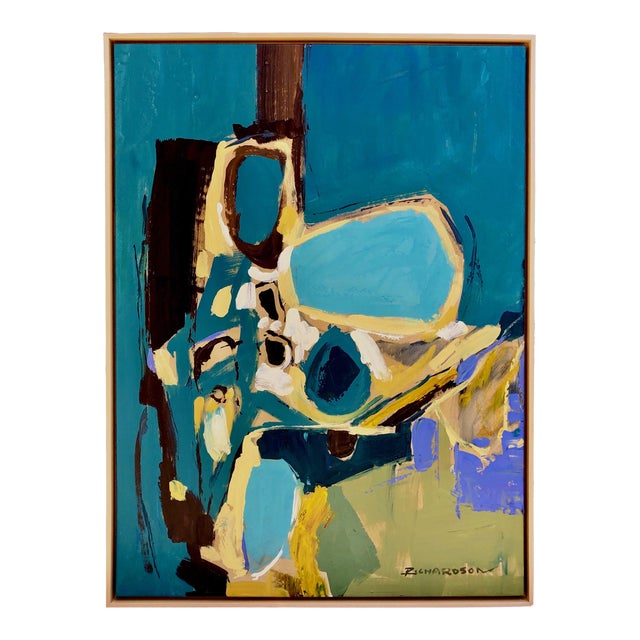 1960s Vintage Liang Richardson Oil on Canvas Painting For Sale