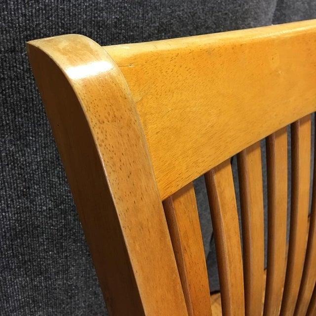 Adjustable Wood Banker's Desk Chair - Image 5 of 8