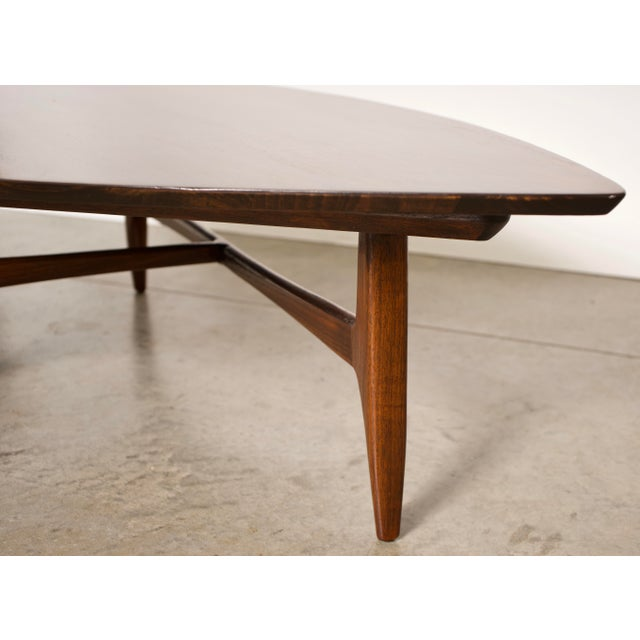 American 1960's modern designer coffee table by Erwin Lambeth in fantastic, original condition. The table is crafted out...