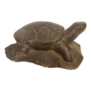 LG Tortoise Lime Stone Sculpture For Sale