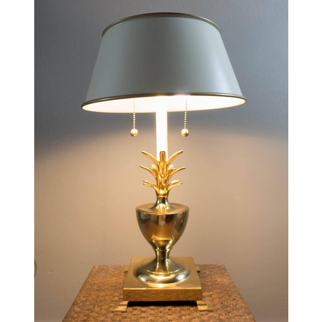 Vintage brass pineapple table lamp chairish vintage brass pineapple table lamp image 5 of 6 aloadofball Images