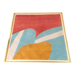 "1970s Wood Block Print ""California"" by Carol Summers"