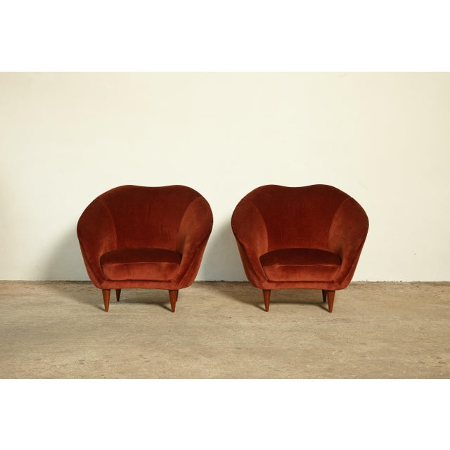1960s Pair of Federico Munari Lounge Chairs Italy, 1960s For Sale - Image 5 of 8