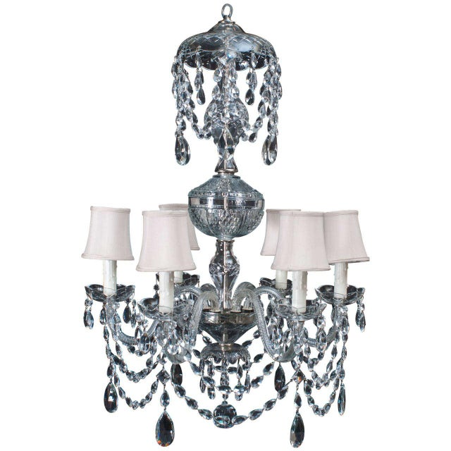 Neoclassical Style Crystal Chandelier For Sale - Image 11 of 11
