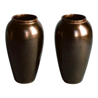 Jean-Baptiste Gaziello Pair of Vases 1930s For Sale