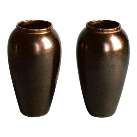 Jean-Baptiste Gaziello Pair of Vases 1930s For Sale