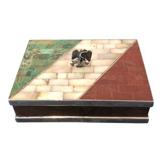 Los Castillo Mid-Century Sterling Silver and Copper Box For Sale