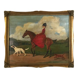 Original Oil on Canvas Equestrian Scene