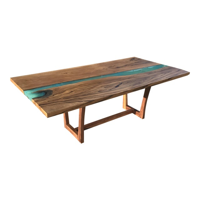 Wood & Resin River Table For Sale