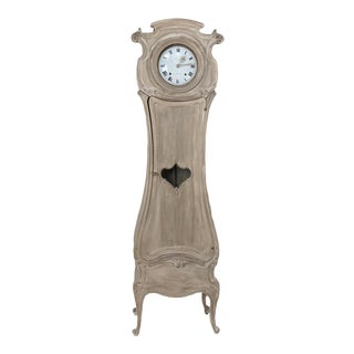 19th Century French Walnut Art Nouveau Long Case Clock For Sale