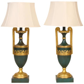 Neoclassical Style Lamps - A Pair For Sale